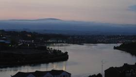 The River Foyle, whose tributary the Faughan was the site of a kilometres-long fish kill two months ago