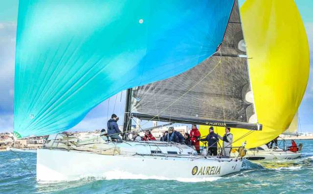 "Chris Power-Smith's J122 ""Aurelia"" won both overall and IRC 0 in yesterday's ISORA race after an epic upwind battle from Rockabill Island to East Kish buoy against Stephen Tudor's J111 ""Sgrech"""