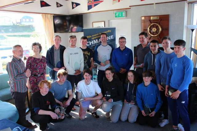 Winners at the CH Marine Ulster Laser Championships at Ballyholme Yacht Club