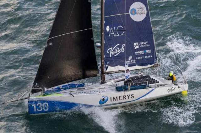 Phil Sharp's Class 40 Imerys Clean Energy from the Channel Islands should be past St Kilda before darkness tonight, leading the RORC Sevenstar Round Britain & Ireland Race in tough sailing conditions