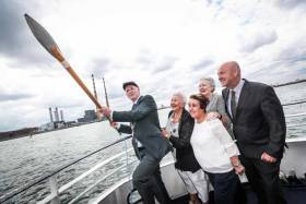 Pictured was Lord Mayor of Dublin and Honorary Admiral of Dublin Port, Nial Ring with Dolores Wilson, chairperson of  St Andrew's Resource Centre South Docks Festival, and Betty Ashe of St Andrew's Resource Centre, Lucy McCaffrey, Chairperson Dublin Port Company and Eamonn O'Reilly, Chief Executive, Dublin Port Company