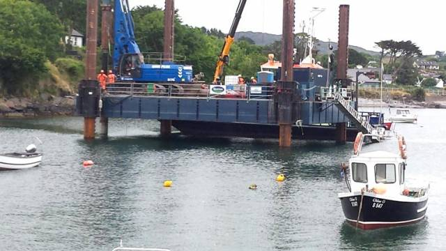 Schull Harbour Pontoon Installation in West Cork Begins