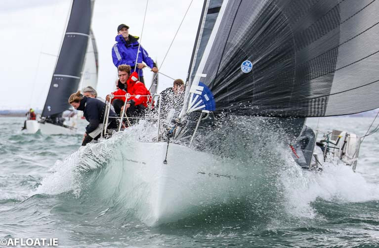 Denis and Annamarie Murphy's Nieulargo. The Grand Soleil 40 from the Royal Cork Yacht Club was the inaugural winner of 2020's Fastnet 450 Race and is entered into July's VDLR offshore class
