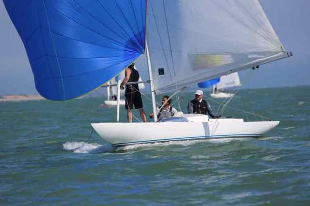 Dragon crew Jaguar skippered by Martin Byrne are in action off Dun Laoghaire this weekend