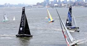 The fleet depart New York. An international jury monitoring the race includes Irish International judge Gordon Davies from Bray in County Wicklow