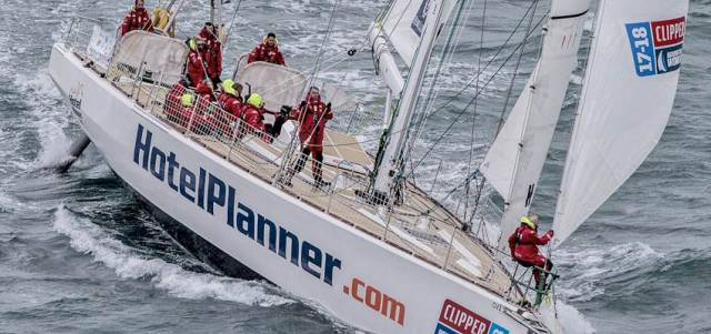 HotelPlanner.com has a largely Irish crew for this penultimate state of the 2017-18 Clipper Race
