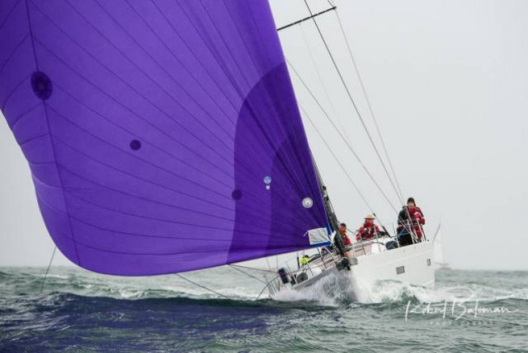 Conor Doyle's xP50 Freya from Kinsale is currently the largest entrant for the Volvo Dun Laoghaire-Dingle Race on June 9th. She is seen here winning the Kinsale-Monkstown Race in a record two hours, but the course record she challenges in the race to Dingle was set by a 94-footer, Mick Cottter's Windfall in 2019
