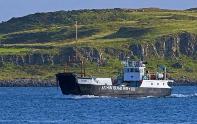Current Rathlin Island serving carferry, Canna operates the service. The Rathlin Ferry Co are to introduce the newbuild Spirit of Rathlin on completion of crew training and certification from the MCA.