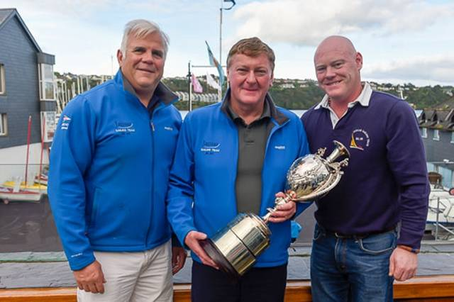 Adam Winkelmann, Martin Byrne and Donal Small were winners of the Irish Dragon Championships in Kinsale. Scroll down for prizegiving gallery