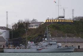 Irish Naval Service vessel LÉ Ciara pictured at Haulbowline in Cork Harbour