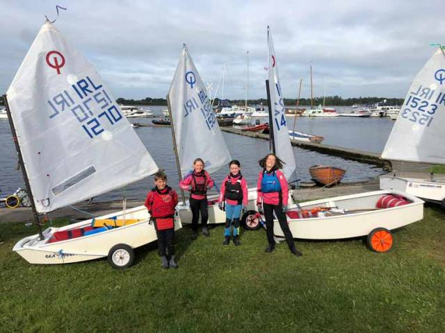 The new Junior Development Squad is a training initiative designed for the younger less experienced sailors in the Irish Optimist fleet
