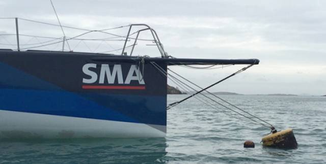 "SMA moored in Crookhaven in January 2016, after the boat was recovered against what Marcus Hutchinson says were ""pretty tough odds"""