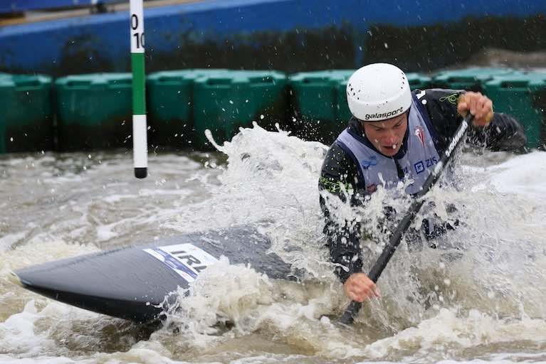 Hendrick Qualifies for Semis at Junior & U23 Canoe Slalom European Championships