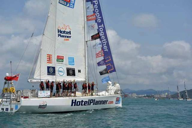 HotelPlanner.com, Skippered by Irish Yachtsman Conall Morrison, who was recently named the Irish Sailor for December by Afloat.ie, got off to a solid start to the 1,700 nautical mile race to Qingdao.
