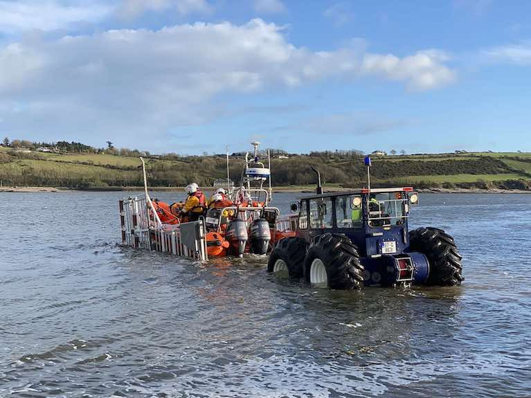 Youghal RNLI lifeboat is launched