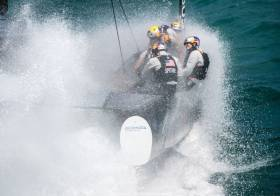 Forecasts indicate that winds may gust over 30 knots during the afternoon and evening on the AC race track