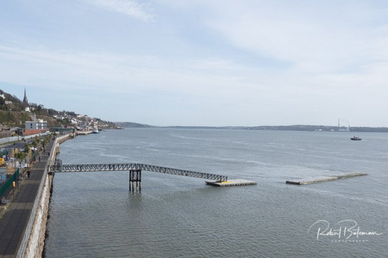 Cobh marina - The gangway, first two breakwaters and landing pontoon are now installed at Whitepoint in Cobh