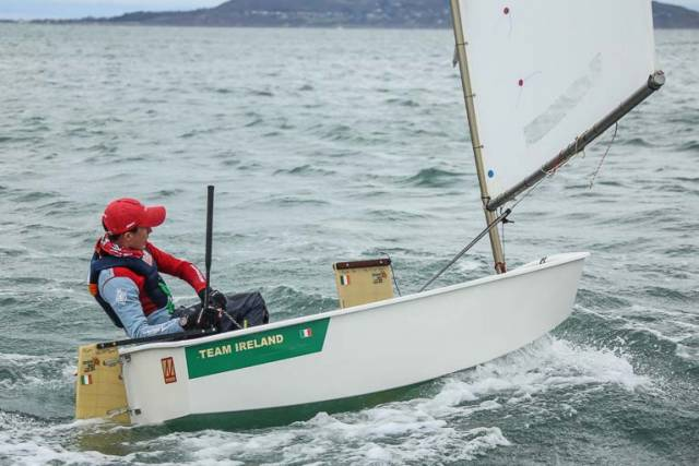 Races at the Irish Sailing Youth Pathway Championships are open to all young sailors who sail in the five Irish Sailing Youth Pathway Classes (Laser Radial, Laser 4.7, 420, Topper and Optimist (pictured above)