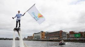 Ken O'Connell of Limerick Market Quarter helps launch Limerick's Riverfest