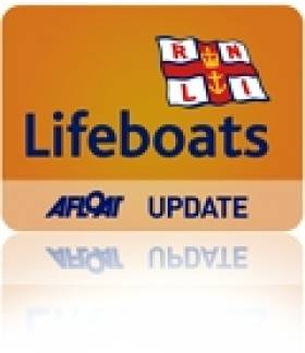 Tramore RNLI Lifeboat Recover Three men from Homemade Raft
