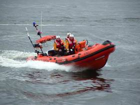 Galway RNLI's inshore lifeboat on exercise