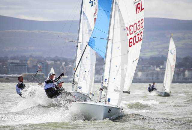 Nicola and Fiona Ferguson of the National Yacht Club are on the Junior European Team