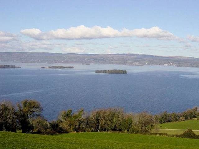 Lough Derg is the second largest lake in the Republic of Ireland