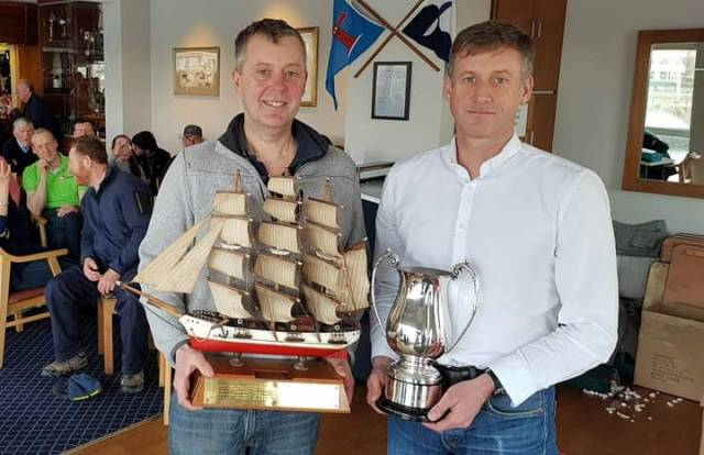 DMYC Frostbite winners Stephen Oram (L) and Noel Butler. Scroll down for more winners.