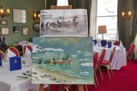 Jim Sweeney's painting marks the centenary of the voyage of the James Caird