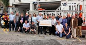 Bundoran RNLI also received €6,000 from Avolon Aerospace Leasing Co Ltd to commemorate the 30th anniversary of the drowning of brothers Brendan and Thomas Patton and their cousin Eddie Donagher