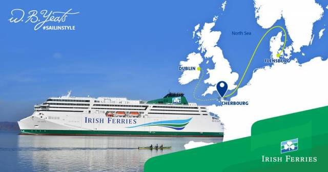 The introduction of cruiseferry W.B. Yeats on the direct Dublin-Cherbourg route to France is where those services connecting Rosslare are according to Irish Ferries today, unlikely to operate in 2019.