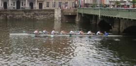 Commercial on their way to winning the Dublin Head of the River