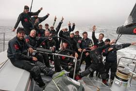 Jim and Kristy Clark's world-beating crew sets new monohull transatlantic record of 5 days, 14 hours, 21 minutes 25 seconds *
