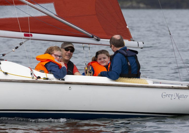 Sailing at a previous Watersports Inclusion Games