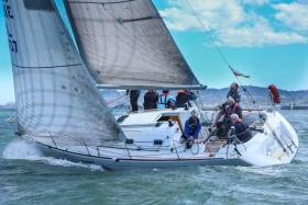 The Beneteau 31 Levante was third in today's scratch one design race