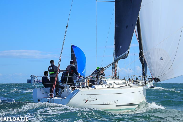 Leslie Parnell's First 34.7 from the Royal Irish Yacht Club is one of 19 starters in this morning's first ISORA coastal race off Dublin