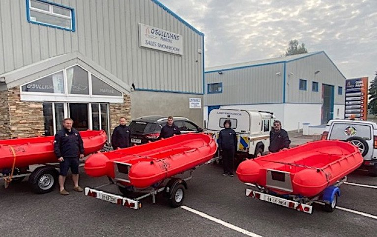 Enniscorthy SAR Team Collect Two Whaly 370s & Whaly 435R Professional from O'Sullivans Marine