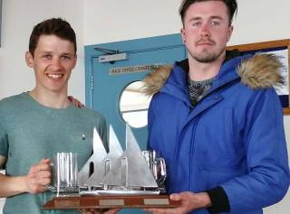 RS 400 winners Barry McCartin (left) and Andrew Penney