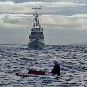 The 'mystery' paddleboarder was picked up from the English Channel on Sunday 9 October