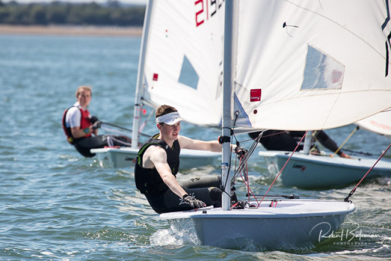 Laser youth sailing in Cork Harbour