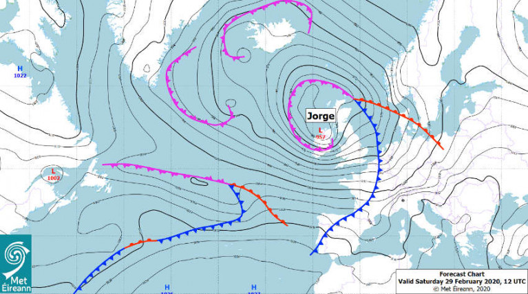 Storm Jorge: Status Red Marine Warning For All Irish Coastal Waters