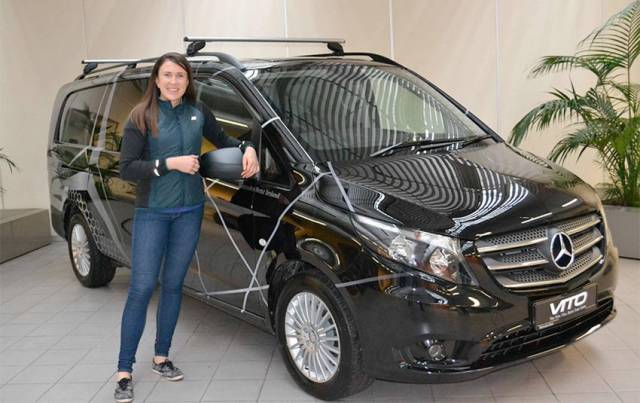 Annalise Murphy with her Mercedes-Benz Vito Mixto