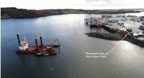 Smooth point - the project will add a further 120 metres of workable quay space in the County Donegal harbour