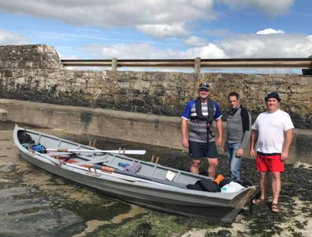 Cllr Emmett O'Brien after rowing from Ringmoylan to Labasheeda