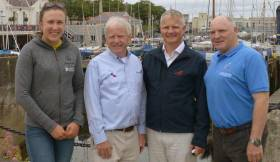 Annalise Murphy (The National Yachts Club's Olympic Silver Medalist) with (from left) Ronan Beirne (Commodore National Yacht Club), Niall Meagher (Event Chairman) and Chris Doorly (Flying Fifteen Association of Ireland President) at the recent announcement of the up and coming Flying Fifteen World Championships to be hosted by the National Yacht Club in September 2019