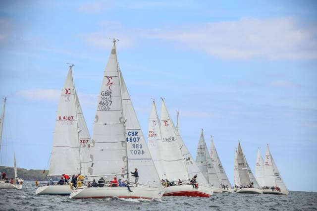 The UK and Irish Sigma 33 championships are being held on Dublin Bay