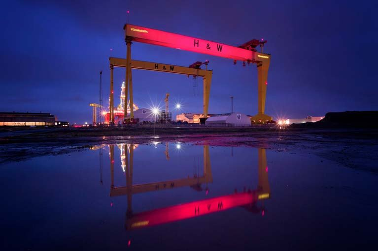 Harland & Wolff Shipyard Horn Sounds After 20 Years in Appreciation of NHS Workers