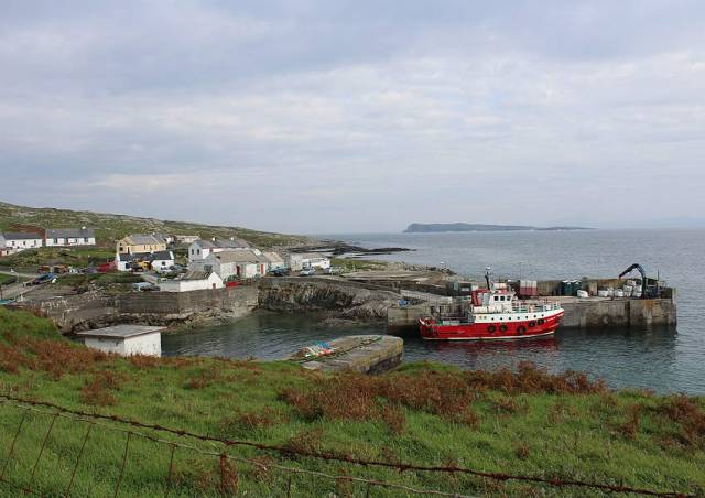 The harbour on Inishturk