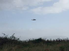 Rescue 116 over Dundalk Bay this morning after reports of windsurfers in difficulty