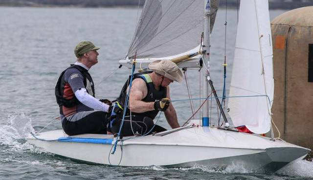 Frank Miller & Cormac Bradley of the Dun Laoghaire Motor Yacht Club were part of a small fleet of Fireballs at Ballyholme Yacht Club at the weekend